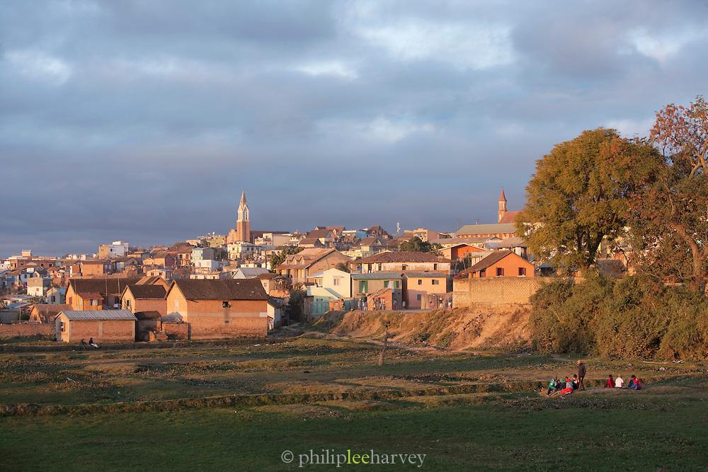 A neighbourhood on the outskirts of the captial city Antananarivo, Madagascar