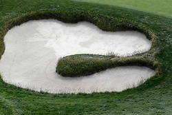 June 11, 2019 - Pebble Beach, CA, U.S. - PEBBLE BEACH, CA - JUNE 11: A general scenic view of a sand trap on the 7th hole during a practice round for the 2019 US Open on June 11, 2019, at Pebble Beach Golf Links in Pebble Beach, CA. (Photo by Brian Spurlock/Icon Sportswire) (Credit Image: © Brian Spurlock/Icon SMI via ZUMA Press)