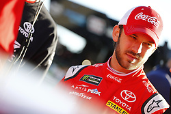 March 2, 2018 - Las Vegas, Nevada, United States of America - March 02, 2018 - Las Vegas, Nevada, USA: Daniel Suarez (19) hangs out on pit road before qualifying for the Pennzoil 400 at Las Vegas Motor Speedway in Las Vegas, Nevada. (Credit Image: © Chris Owens Asp Inc/ASP via ZUMA Wire)