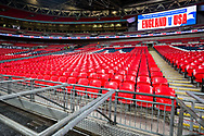 Stand at the stadium prior to the international Friendly match between England and USA at Wembley Stadium, London, England on 15 November 2018.