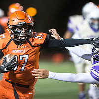 Gallup Bengals wide receiver Johnny Blueeyes runs with the ball after catching a pass in the first quarter against Kirtland Central Broncos at Angelo DiPaolo Stadium in Gallup, Friday, Nov. 2.