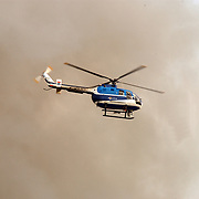 Grote brand Quest International Naarden, KLPD, politiehelicopter, rookontwikkeling