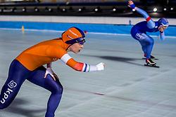 09-03-2018 NED: WK Schaatsen Allround, Amsterdam<br /> Antoinette de Jong NED, Ida Njatun NOR