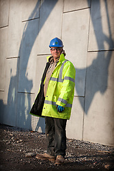 Olympic Park Portrait. Portrait of foreman Ken Swaby beside his work on the F06 Bridge on the Olympic Park. Picture taken on 08 Jan 2010 by David Poultney.