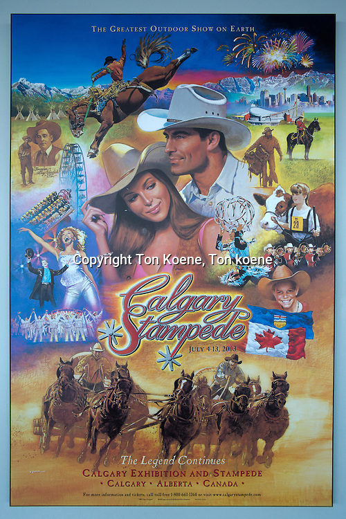 poster of the yearly cowboy stampede in galgary