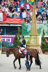 Patrice Delaveau, (FRA), Orient Express HDC - Show Jumping Final Four - Alltech FEI World Equestrian Games™ 2014 - Normandy, France.<br /> © Hippo Foto Team - Jon Stroud<br /> 07/09/2014