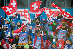 29.01.2012, Corviglia, St. Moritz, SUI, FIS Weltcup Ski Alpin, St. Moritz, Damen, Super-G, Superkombination, im Bild Wendy Holdener Fan Club // during Super-G, Supercombination of the FIS Ski Alpine Worldcup, Women at the Corviglia Course in St. Moritz, Switzerland on 2012/01/29. EXPA Pictures © 2012, PhotoCredit: EXPA/ Freshfocus/ Andy Mueller..***** ATTENTION - for AUT, CRO and SLO only *****