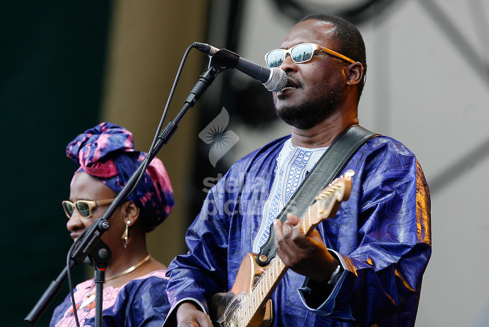 Picture by Daniel Chesterton/Stella Pictures. .13/07/12.Amadou and Mariam perform at Latitude, a music and arts festival in Suffolk..