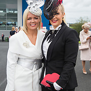 08.10.17.            <br /> Pictured at Limerick Racecourse for the  Keanes Most Stylish Lady competition were, Lesley Teehan and Paula McCormack. Picture: Alan Place