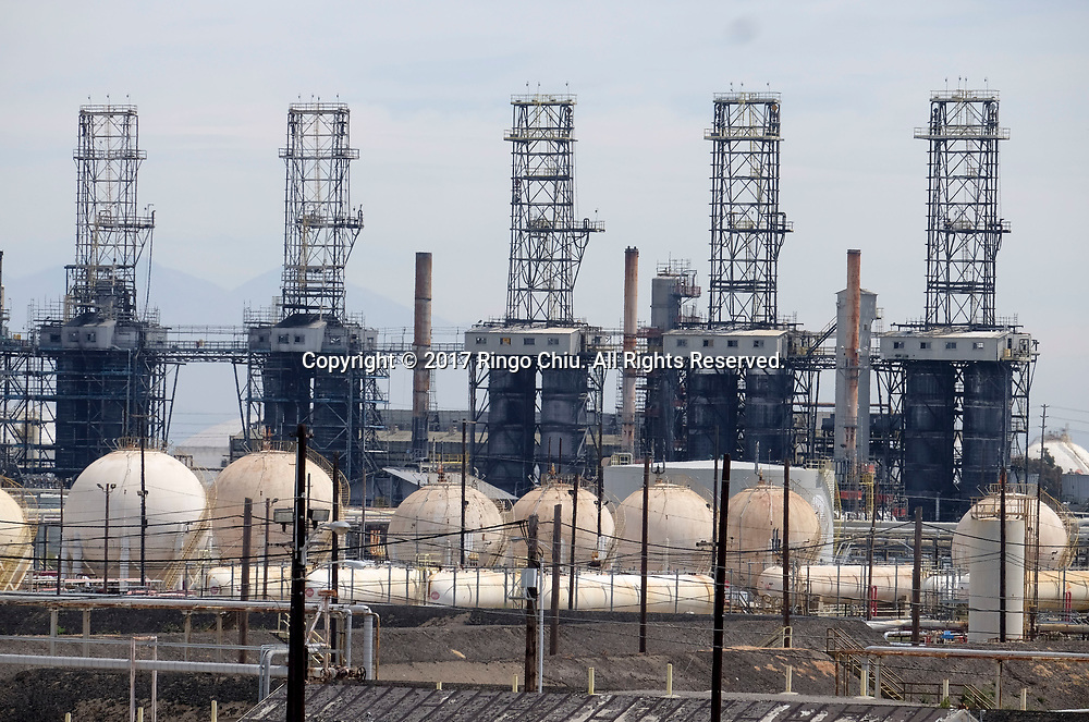 The PBF Refinery (formerly Exxon-Mobil) in Torrance.  (Photo by Ringo Chiu/PHOTOFORMULA.com)<br /> <br /> Usage Notes: This content is intended for editorial use only. For other uses, additional clearances may be required.