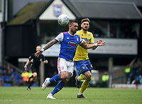 Ipswich Town's Luke Chambers battles with Leeds United's Mateusz Klich<br /> <br /> Photographer Hannah Fountain/CameraSport<br /> <br /> The EFL Sky Bet Championship - Ipswich Town v Leeds United - Sunday 5th May 2019 - Portman Road - Ipswich<br /> <br /> World Copyright © 2019 CameraSport. All rights reserved. 43 Linden Ave. Countesthorpe. Leicester. England. LE8 5PG - Tel: +44 (0) 116 277 4147 - admin@camerasport.com - www.camerasport.com