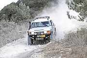 Cross country rally. A 4x4 event photographed in Israel A Landcruiser negotiates the terrain