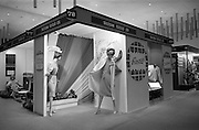 24/04/1964<br /> 04/24/1964<br /> 24 April 1964 <br /> Stands at the Irish Export Fashion Fair at the Intercontinental Hotel, Dublin. Tailteann Textiles Ltd. (Mullingar, Co. Westmeath) display at the fair.  Kilbanon stand in background.