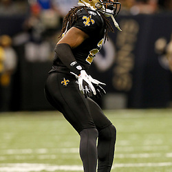 December 4, 2011; New Orleans, LA, USA; New Orleans Saints cornerback Patrick Robinson (21) against the Detroit Lions during a game at the Mercedes-Benz Superdome. The Saints defeated the Lions 31-17. Mandatory Credit: Derick E. Hingle-US PRESSWIRE