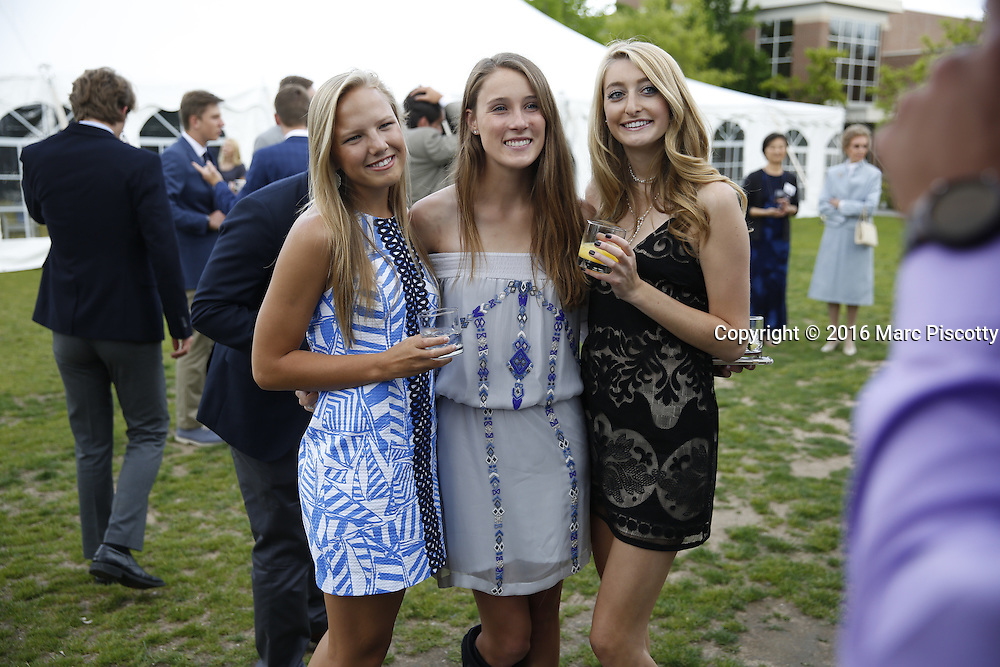 SHOT 6/1/16 6:00:31 PM - Colorado Academy Senior Class portrait in front of the Wellborn House and Class of 2016 Commencement Dinner at the Denver, Co. private school. (Photo by Marc Piscotty / © 2016)
