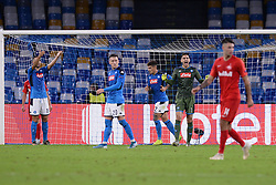 November 5, 2019, Napoli, Napoli, Italia: Foto Cafaro/LaPresse.5 Novembre 2019 Napoli, Italia.sport.calcio.SSC Napoli vs FC Salzburg - Uefa Champions League stagione 2019/20 Gruppo E, giornata 4 - stadio San Paolo.Nella foto: Alex Meret (SSC Napoli) arrabbiato...Photo Cafaro/LaPresse.November 5, 2019 Naples, Italy.sport.soccer.SSC Napoli vs FC Salzburg - Uefa Champions League 2019/20 season Group E matchday 4 - San Paolo stadium.In the pic: Alex Meret (SSC Napoli) gets angry. (Credit Image: © Cafaro/Lapresse via ZUMA Press)