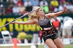 Olympic Trials Eugene 2012: women's Javelin, Brittany Borman, winner, Olympian