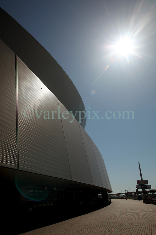 04 October 2011. New Orleans, Louisiana, USA.  <br /> The newly named Mercedes-Benz Superdome.<br /> NFL's New Orleans Saints announce a multi million dollar deal with Mercedes-Benz for naming rights on the Louisiana Superdome.<br /> Photos; Charlie Varley