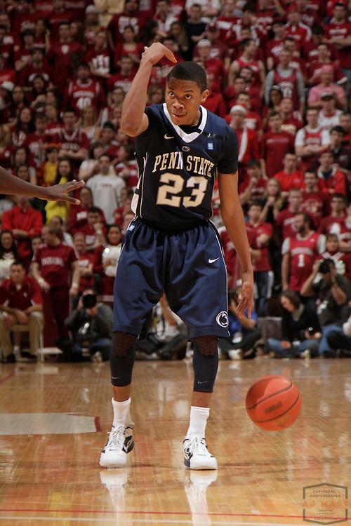 22 January 2012: Penn State Nittany Lions guard Tim Frazier (23) as the Indiana Hoosiers played the Penn State Nittnay Lions in a college basketball game in Bloomington, Ind.