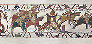 Bayeux Tapestry Scene 18 - Normans attack Dol Rennes, BYX18