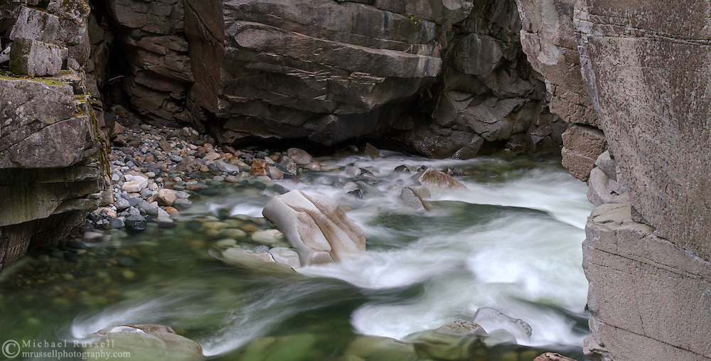 The Coquihalla River flowing through Coquihalla Canyon Provincial Park (Othello Tunnels) in Hope, British Columbia, Canada.