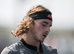 August 29, 2018 - Flushing Meadows, New York, U.S - Stefanos Tsitsipas during his match against Daniil Medvedev on Day 3 of the 2018 US Open at USTA Billie Jean King National Tennis Center on Wednesday August 29, 2018 in the Flushing neighborhood of the Queens borough of New York City. Medvedev  defeats Tsitsipas 6-4, 6-3, 4-6, 6-3. (Credit Image: © Prensa Internacional via ZUMA Wire)