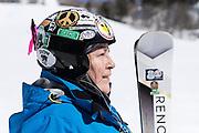 Portrait of Mary Ellen Charles taken at Mont Tremblant Ski Station, Quebec, Canada