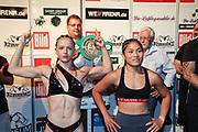 Boxen: Universum Boxpromotion, Boxgala, Waage, Hamburg, 18.06.2021<br /> WBC-Youth-Weltmeisterschaft: Fai Phannarai (GER) - Cheyenne Hanson (GER)<br /> © Torsten Helmke