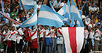 Hamburg 10/6/2006 World Cup 2006<br /> <br /> Argentina Cote d'Ivoire - Argentina Costa d'Avorio 2-1<br /> <br /> Photo Andrea Staccioli Graffitipress<br /> <br /> Argentinian fans