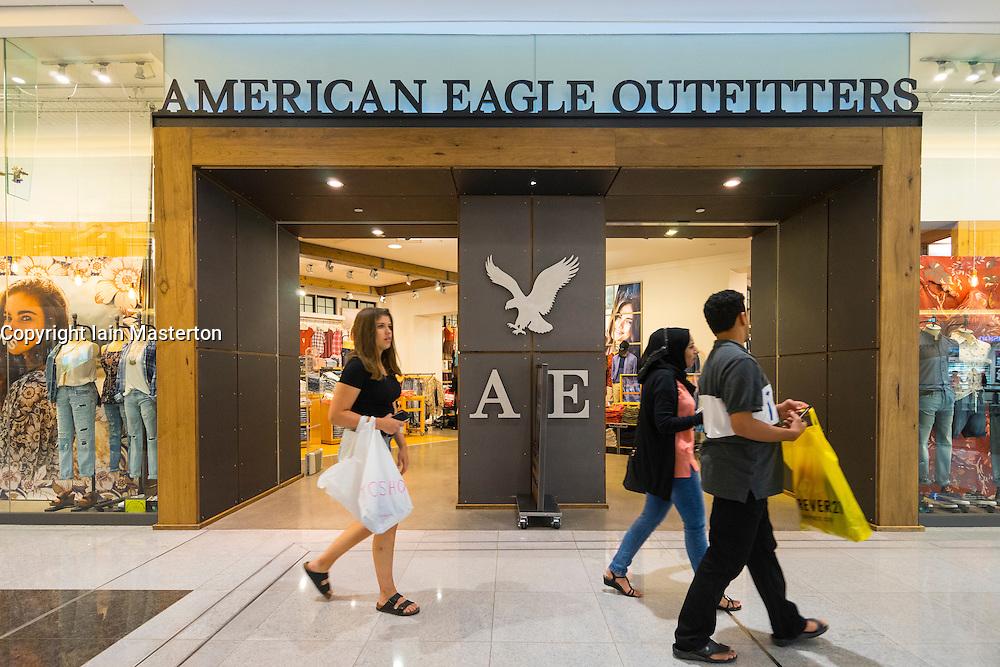 American Eagle Outfitters clothes shop in Dubai Mall Dubai United Arab Emirates