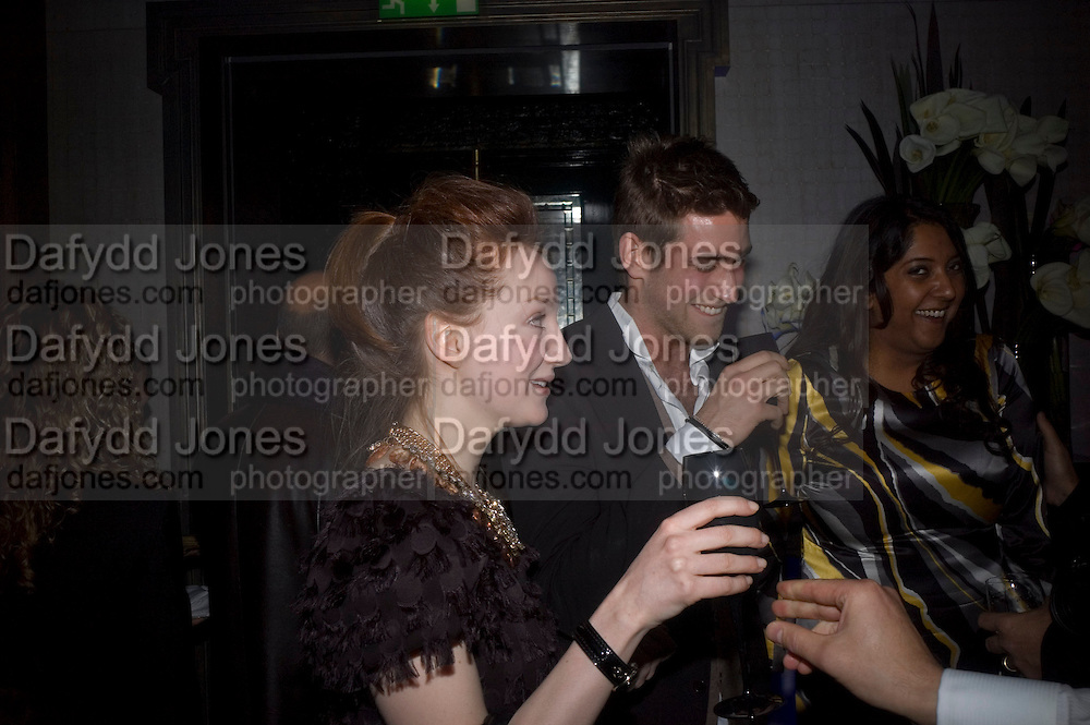Olivia Grant and Oliver Jackson, Dom Perignon and Claudia Schiffer host a celebration of Dom Perignon Oenotheque 1995. The Landau, Portland Place. London W1. 26 February 2008.  *** Local Caption *** -DO NOT ARCHIVE-© Copyright Photograph by Dafydd Jones. 248 Clapham Rd. London SW9 0PZ. Tel 0207 820 0771. www.dafjones.com.