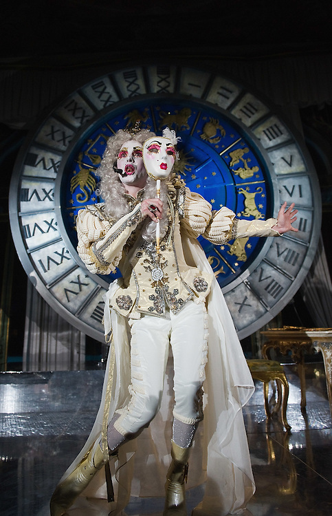 VENICE, ITALY - MARCH 05:  John Andrew Quale aka Prince Poppycock performs at Palazzo Pisani Moretta during the annual Ballo del Doge on March 5, 2011 in Venice, Italy. The Ballo del Doge, created by fashion and costume designer Antonia Sautter, is considered the most elegant and exclusive masquerade ball during the Venice Carnival.