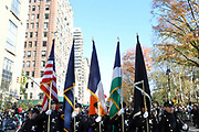 New York, NY-November 23: NYPD Marching Band attends the 91st Annual Macy's Thanksgiving Day Parade on November 23, 2017 held in New York City Credit: (Photo by Terrence Jennings/terrencejennings.com)