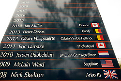 Spruce Meadows, tournament grounds, wall of fame<br /> Spruce Meadows Masters - Calgary 2015<br /> © Hippo Foto - Dirk Caremans<br /> 08/09/15