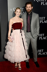 Emily Blunt and John Krasinski attending the 'A Quiet Place' New York Premiere at AMC Lincoln Square Theater on April 2, 2018 in New York City, NY, USA. Photo by Dennis Van Tine/ABACAPRESS.COM