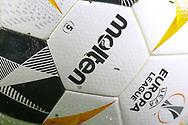 Close up of the Europa League match ball during the Europa League match between Arsenal and Eintracht Frankfurt at the Emirates Stadium, London, England on 28 November 2019.