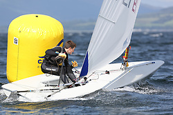 Day 4 NeilPryde Laser National Championships 2014 held at Largs Sailing Club, Scotland from the 10th-17th August.<br /> <br /> 197943, Josh BAKKER<br /> <br /> Image Credit Marc Turner