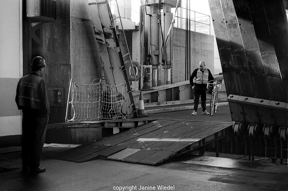 Crew  working on the Sealink cross channel British ferries in the late 1980s