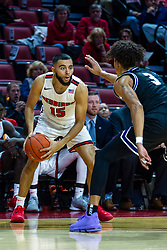 NORMAL, IL - October 23: Lijah Donnelly guarded by Brodric Thomas during a college basketball game between the ISU Redbirds and the Truman State Bulldogs on October 23 2019 at Redbird Arena in Normal, IL. (Photo by Alan Look)