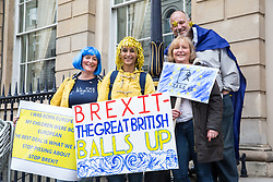 London, UK. 23rd March, 2019. A small group of people among a million people taking part in a People's Vote march through central London before attending a rally in Parliament Square addressed by politicians and entertainers.