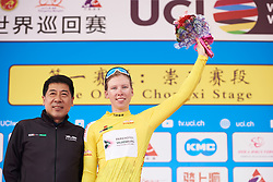Lorena Wiebes (NED) leads the general classification at Tour of Chongming Island 2019 - Stage 1, a 102.7 km road race on Chongming Island, China on May 9, 2019. Photo by Sean Robinson/velofocus.com