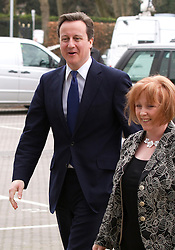 """© under license to London News Pictures. 06/03/2011: The Prime Minister, David Cameron, arrives at the Conservative Party's Spring Forum in Cardiff. Credit should read """"Joel Goodman/London News Pictures""""."""