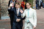 Koninginnedag 2010 . De Koninklijke familie in het zeeuwse  Middelburg. / Queensday 2010. De Royal Family in Middelburg.<br /> <br /> op de foto / on the photo : Prins Pieter-Christiaan en Prins Bernhard