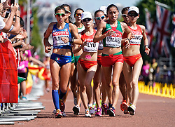 20 km walk women<br /> from left Antonella Palmisano of Italy bronze during day ten of the 2017 IAAF World Championships at the London Stadium, UK, Sunday August 13, 2017. Photo by Giuliano Bevilacqua/ABACAPRESS.COM