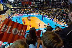 17-02-2019 NED: National Cupfinal Draisma Dynamo - Abiant Lycurgus, Zwolle<br /> Dynamo surprises national champion Lycurgus in cup final and beats them 3-1 / A fully packed Landstede hall with a fantastic atmosphere