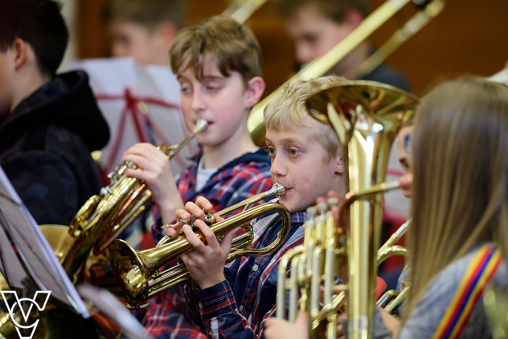 Lincolnshire Music Service's Junior Music Day held at Queen Elizabeth's Grammar School, Horncastle.<br /> <br /> Picture: Chris Vaughan Photography for Lincolnshire Music Service<br /> Date: March 23, 2019