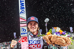 20.01.2018, Heini Klopfer Skiflugschanze, Oberstdorf, GER, FIS Skiflug Weltmeisterschaft, Einzelbewerb, im Bild Daniel Andre Tande (NOR, Goldmedaillengewinner und Weltmeister) // Gold medalist and world champion Daniel Andre Tande of Norway during individual competition of the FIS Ski Flying World Championships at the Heini-Klopfer Skiflying Hill in Oberstdorf, Germany on 2018/01/20. EXPA Pictures © 2018, PhotoCredit: EXPA/ JFK