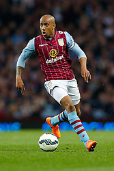 Fabian Delph of Aston Villa in action - Photo mandatory by-line: Rogan Thomson/JMP - 07966 386802 - 07/04/2015 - SPORT - FOOTBALL - Birmingham, England - Villa Park - Aston Villa v Queens Park Rangers - Barclays Premier League.