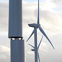 Oct 2010 Butterwick Moor Co Durham - construction of wind turbines at Butterwick Moor