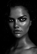 Portrait of Brazilian model Barbara Fialho